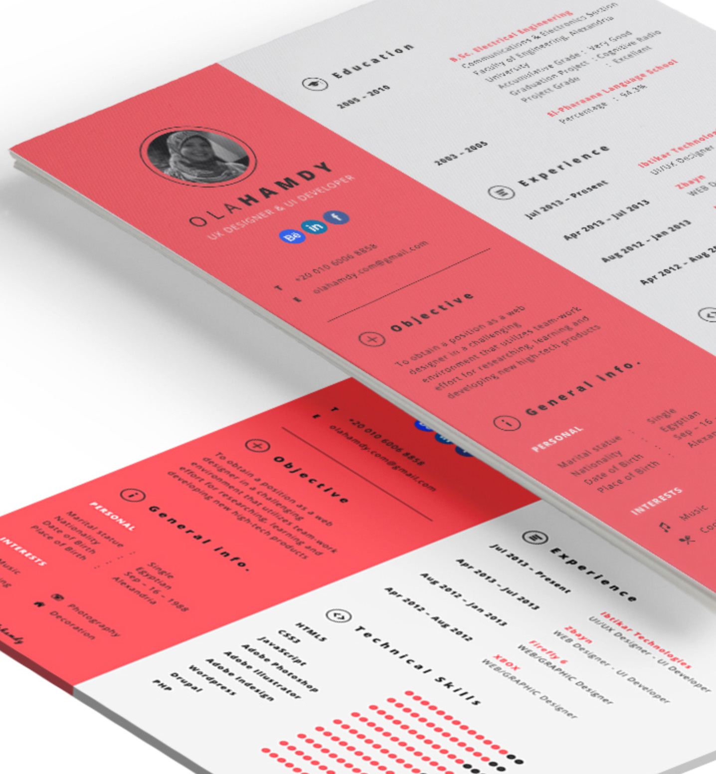 resume/cv design inspiration – the graphic mac