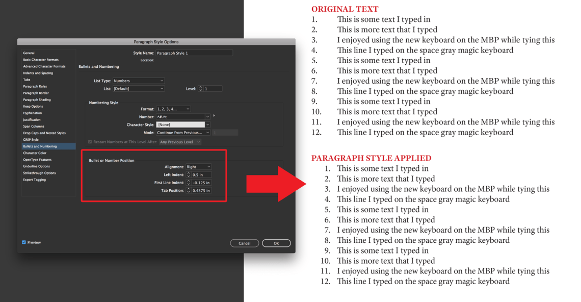 How To Make Pretty Number Lists In Adobe Indesign The Graphic Mac