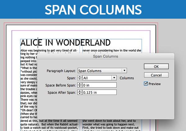 InDesign's Span Columns