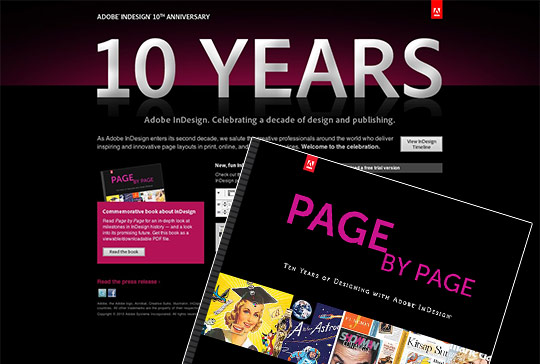 Adobe InDesign celebrates 10 years