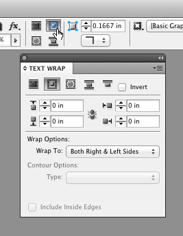 InDesign Text Wrap shortcut