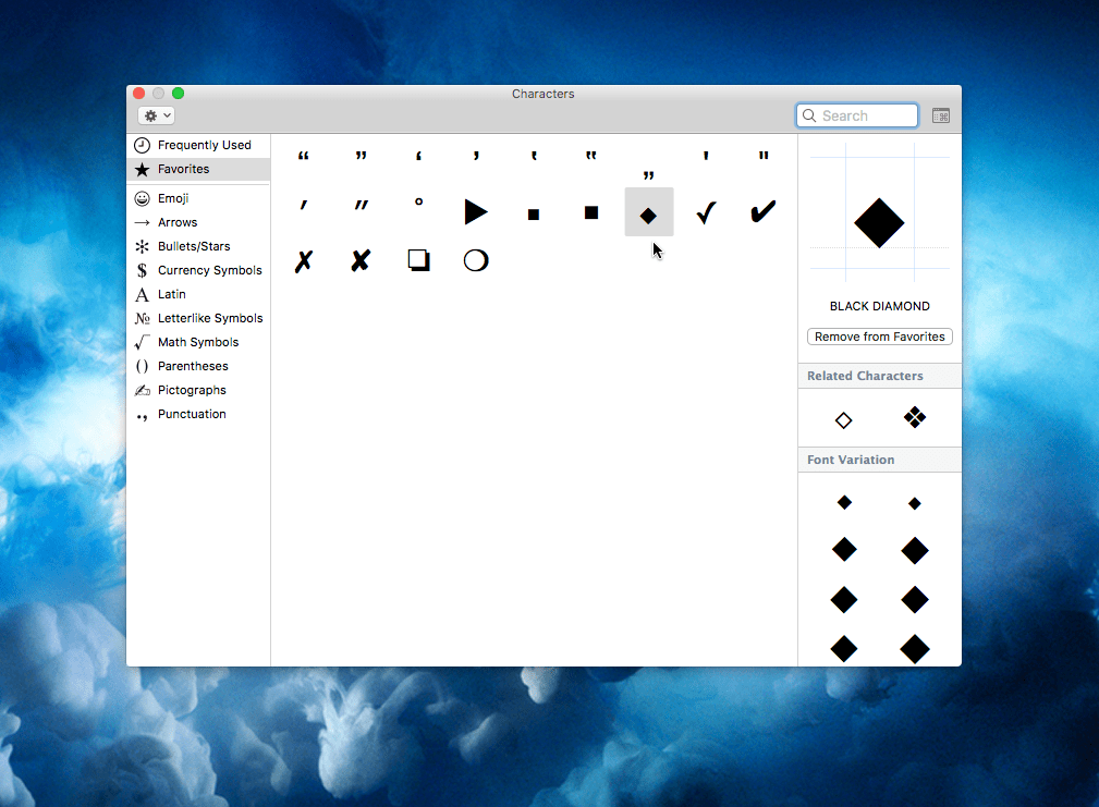 Shortcut To Symbols And Emoji Characters The Graphic Mac