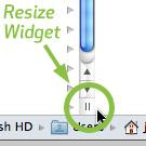 Mac OS X's Column View resize widget