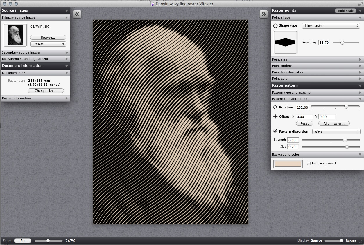 Raster Line Drawing Algorithm : Turn your photos into cool vector pattern art with