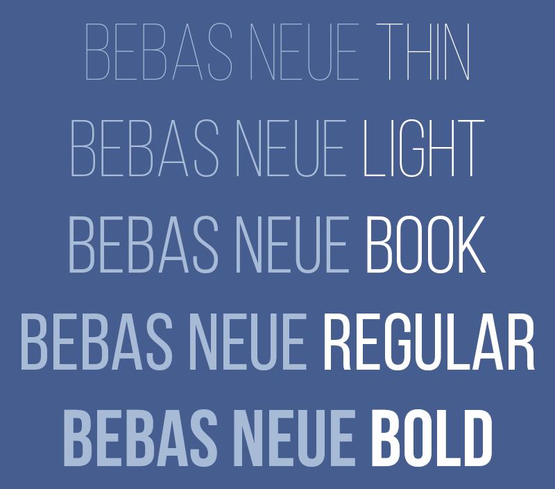 Bebas neue скачать шрифт
