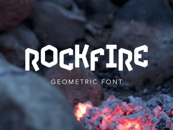 Rockfire font