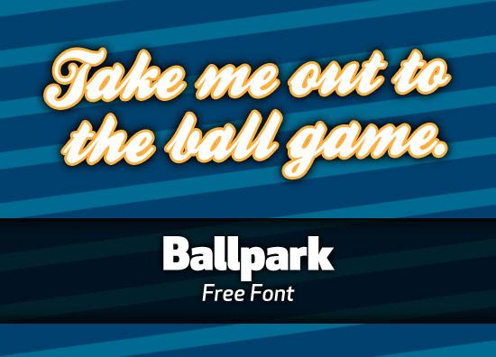 Free font: Ballpark