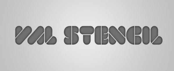 Free font: VAL Stencil