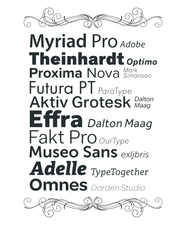 2013 Top Web Fonts