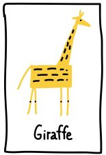 The Graphic Recorder - Visual Vocabulary - Ed Emberley Tribute - Giraffe