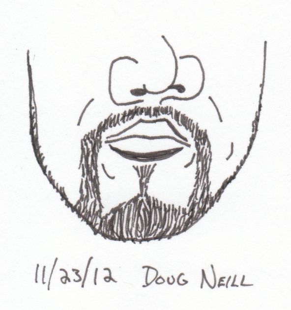 The Graphic Recorder - Doug Neill - Beard Sketch #5 - 2012 November 23