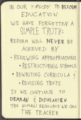The Graphic Recorder - Doug Neill Sketchnotes - The Courage to Teach - Parker J Palmer - Intro (9) Rush to Reform