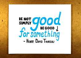 Good for something, etsy, blue, illustration, sketchnote, henry david thoreau, doug neill