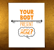 mindfulness, presence, illustration, sketchnote, orange, doug neill