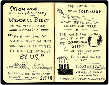 Bill Moyers - Wendell Berry Sketchnotes (1)Black