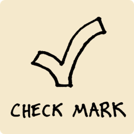 Check Mark Visual Vocabulary - sketchnoting visual note taking doodling