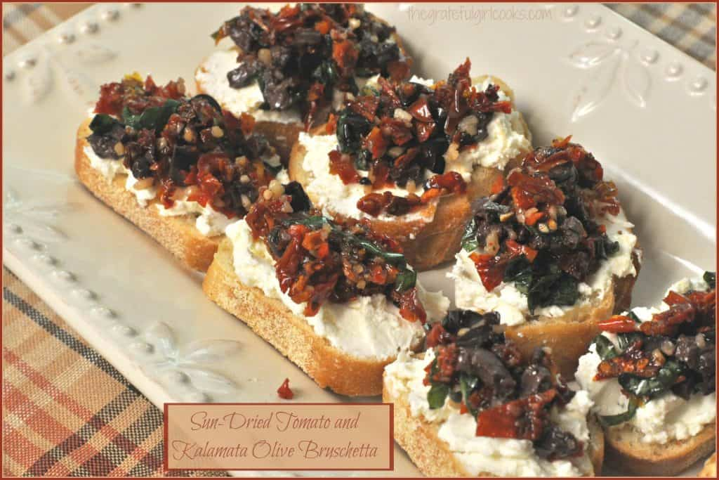 Sun Dried Tomato And Kalamata Olive Brushchetta The