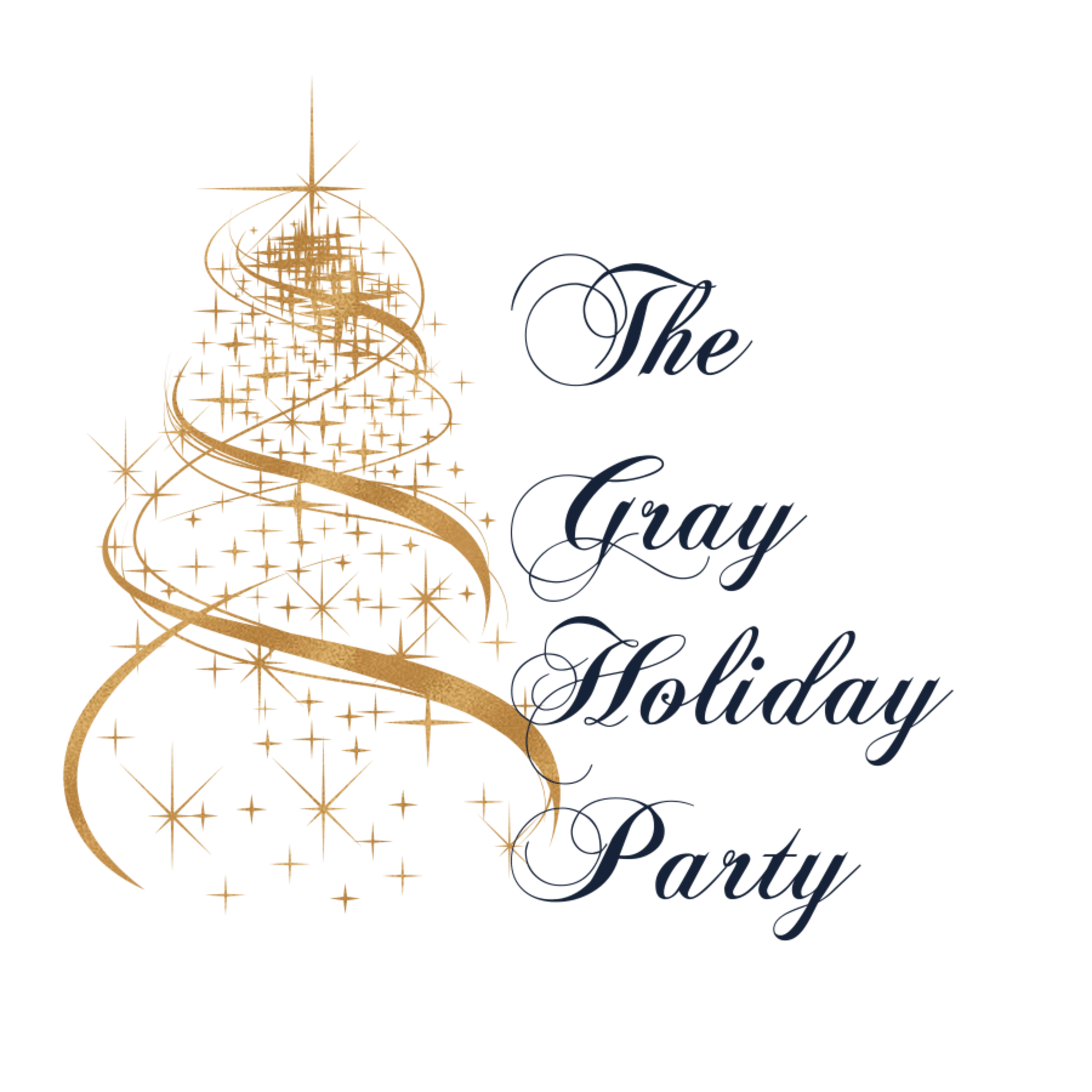Navy Blue The Gray Holiday Party