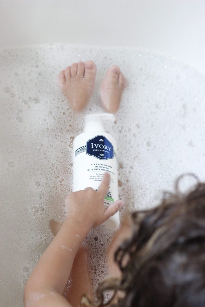 toddler bath time natural products