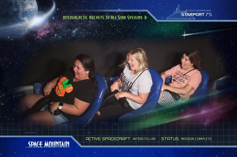 space mountain at mickeys not so scary