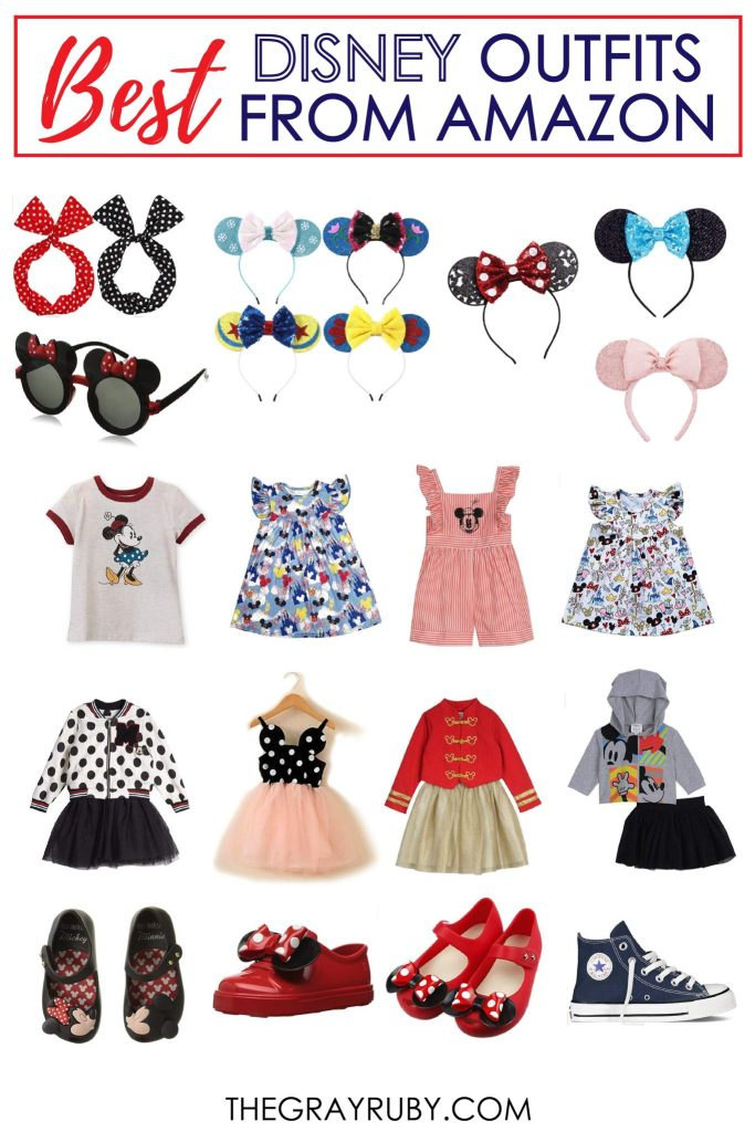 Disney outfits for girls from Amazon / Disney outfits for toddlers /Disney outfits for kids / Little girls outfits for Disney / Inexpensive Disney clothes