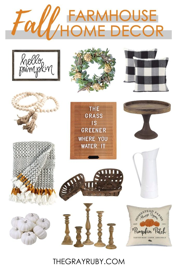 Fall farmhouse home decor from amazon under $50 - the best farmhouse fall inspiration - farmhouse fall decorations - fall decor ideas for the home