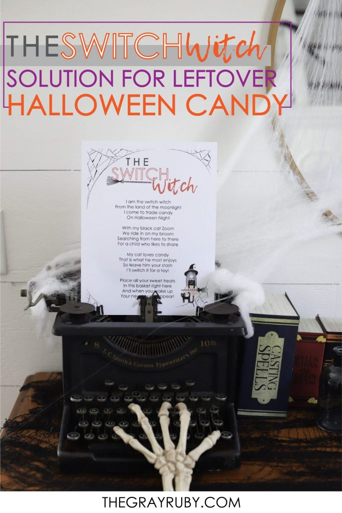 What is the Switch Witch? - Its you're solution for getting that leftover Halloween candy out of your kids hands. Here is a free printable and organizations that are accepting candy donations