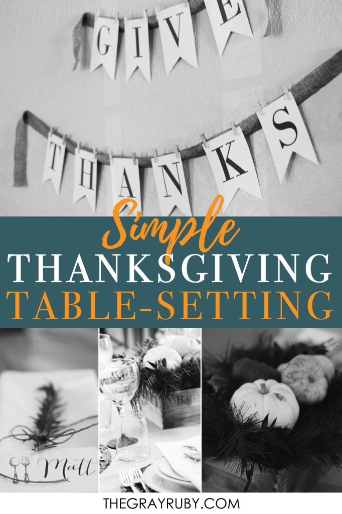 Thanksgiving dinner table ideas - a simple thanksgiving table seating