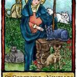 St Gertrude of Nivelles, Patron of cats