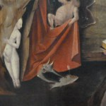 The Temptation of St. Anthony-Detail of Cat Hieronymus Bosch 1500