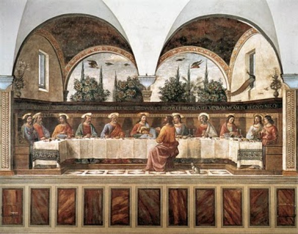 cat in Domenico Ghirlandaio Last Supper