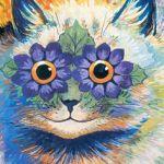 Early Indian-Irish Cat Louis Wain cats in art