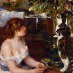 Pierre-Auguste Renoir, Young Girl with Cat 1879
