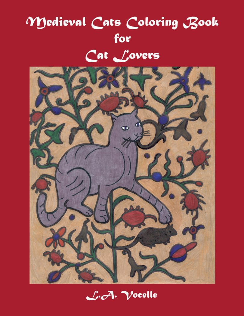 Medieval Cats Coloring Book for Cat Lovers, adult coloring book, coloring book