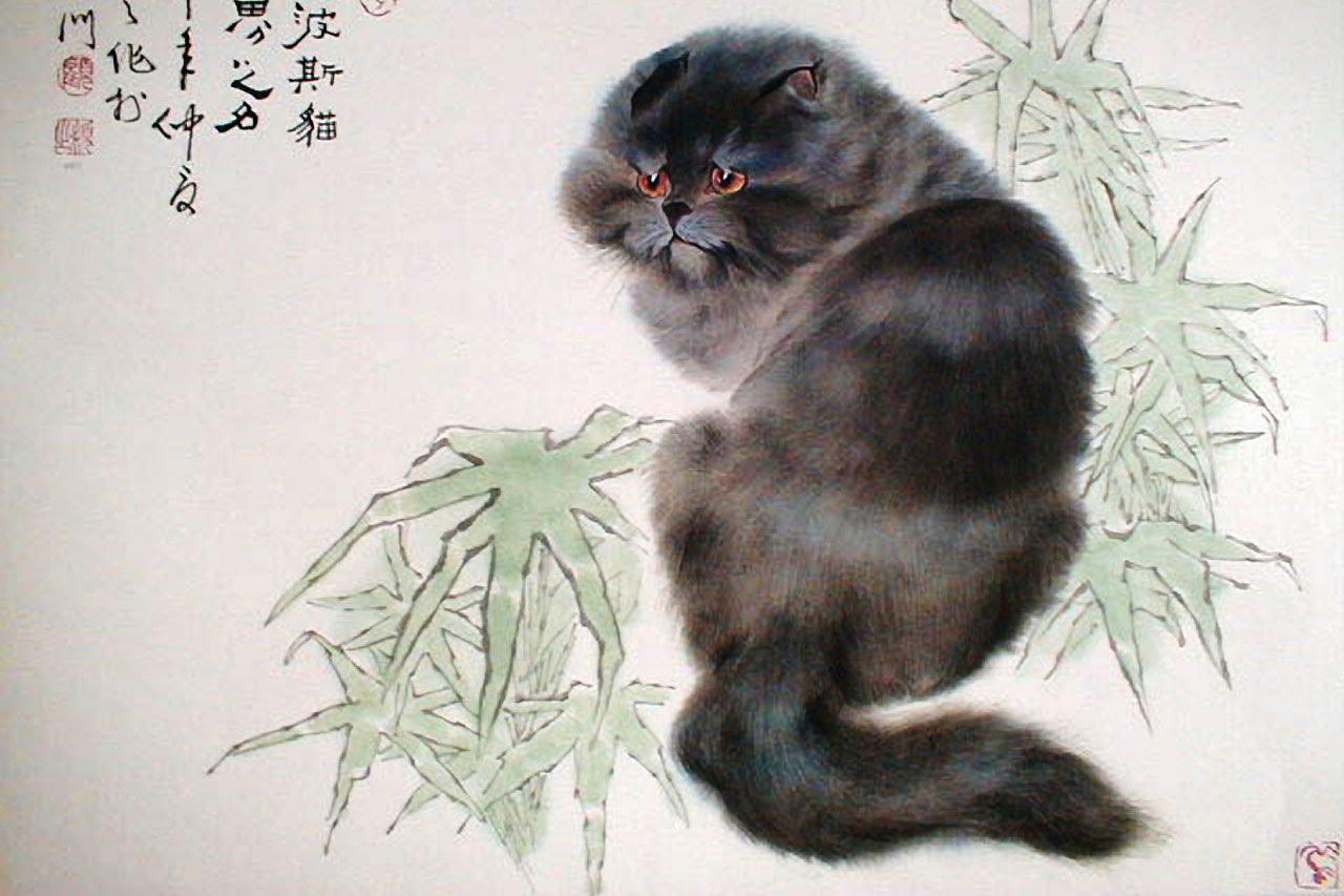 Gu Yingzhi (1945-present, Chinese) - The Great Cat