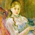 Berthe Morisot (1841-1895) Young Girl and Cat