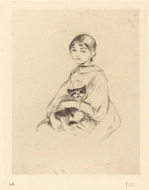 Berthe-Morisot, Girl with Cat