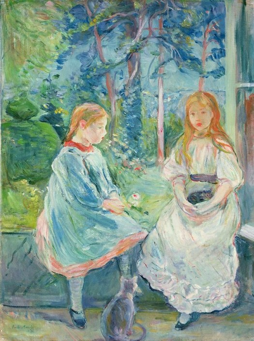 Young Girls at the Window with a cat, Berthe Morisot
