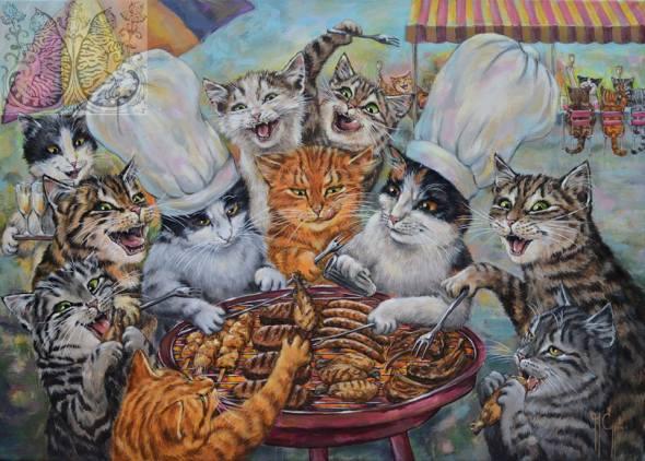 Martine Coppens, cats in art, 10