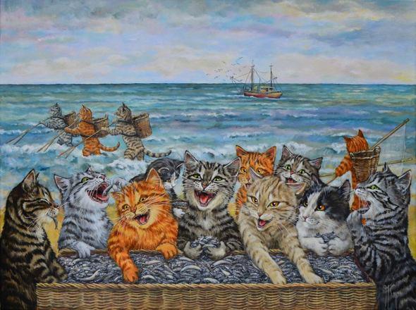 Martine Coppens, cats in art, 12