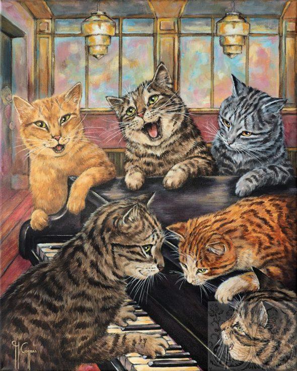 Martine Coppens, cats in art, 16
