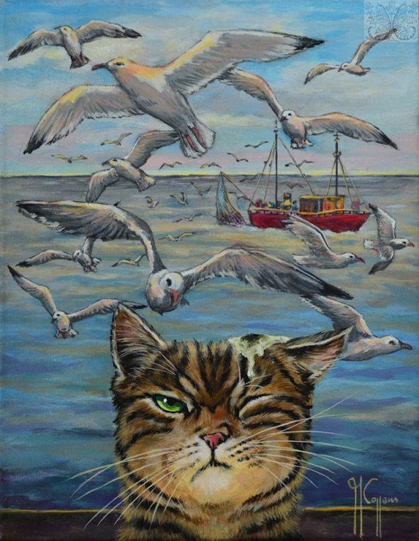 Martine Coppens, cats in art, 3