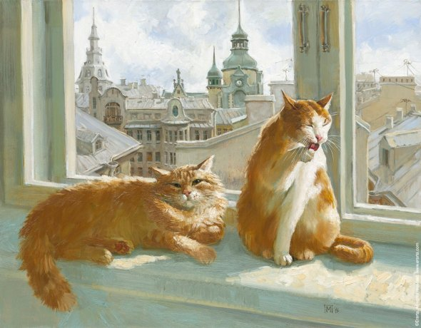 Cat with a Lovely View, Maria Pavlova