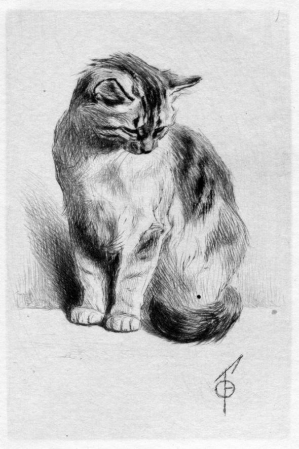 Ferdinand Henri Oger, Seated Cat, 1924
