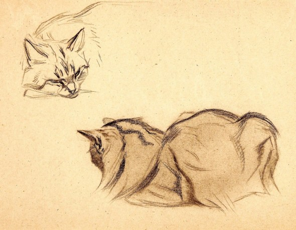 Ferdinand Oger, Study of a Cat