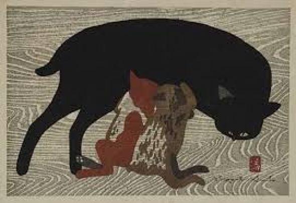 Cat and Kittens, Kiyoshi Saito