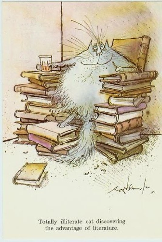 Illiterate Cat, Ronald Searle