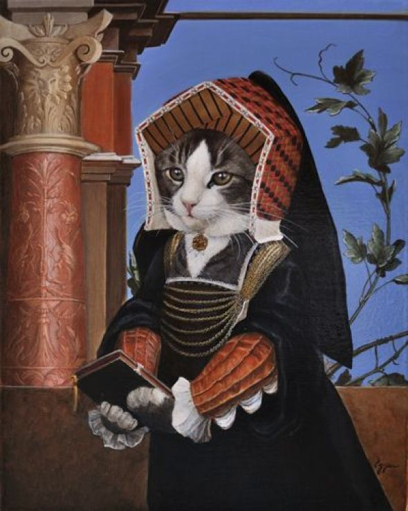 Melinda Copper, 12 from original painting, Lady Mary Guildford by Hans Holbein the Younger