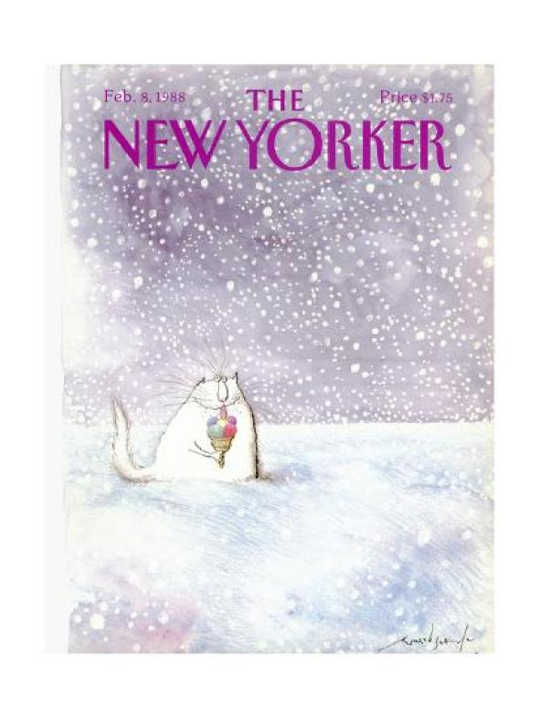 New Yorker Cover, 1988, Ronald Searle