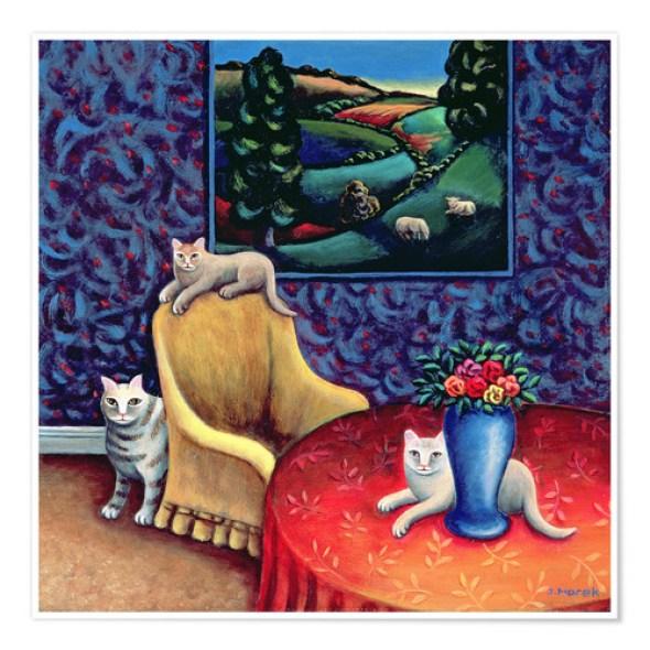 Cats in the Dining Room, Jerzy Marek